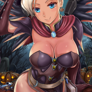 Mercy Witch Overwatch REDJET Art Print
