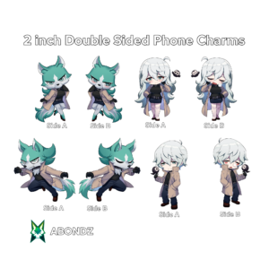 """Shirou Ogami 2"""" Doubled Sided BNA Abondz Phone Charms Collection"""